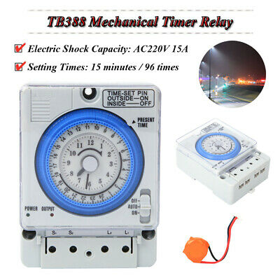 £14.84 • Buy Programmable Timer Switch Mechanical Timer Switch 24h For Electric Equipment DIY
