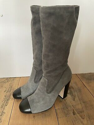 £500 • Buy Authentic CHANEL Ladies Suede Leather Boot Size UK6 EU39 Brand New With Box