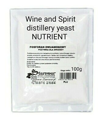 £3.69 • Buy Wine YEAST NUTRIENT 100g For Wine And Spirit Distillery Home Brew And Wine