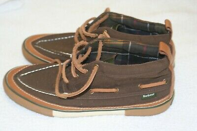 £1.99 • Buy Barbour Boat / Deck Shoe / Ankle Boots In Brown & Tan Size 8 Leather Laces