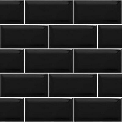 £30 • Buy Wickes Black Bevelled Edged Brick Tiles X 4 Boxes Of 50 Plus 20 Spares.