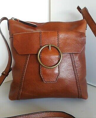 £16 • Buy Marks And Spencer Collection Tan Leather Crossbody Bag