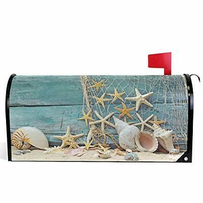$26.32 • Buy Wamika Welcome Summer Sea Shells Starfish On Blue Wooden Mailbox Covers Stand...