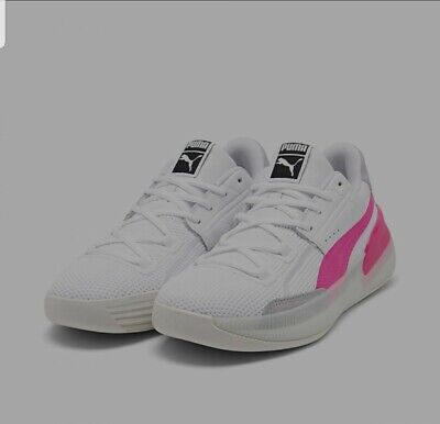 £42.47 • Buy Puma Clyde Hardwood Men's Athletic Sneakers Size 12 White/Pink Basketball