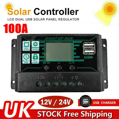 £16.49 • Buy 100A MPPT PWM Solar Panel Regulator Charge Controller Auto Focus Tracking 12V24V