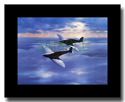 £9 • Buy Spitfire And Hurricane Flying Over Southend Framed Picture Charles Thompson