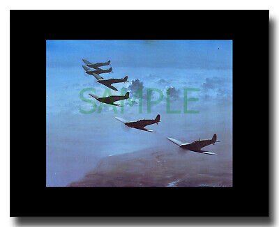 £9 • Buy Six Spitfires Flying Over Southend Framed Picture Charles Thompson
