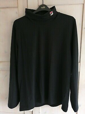 £37 • Buy Fila 19th Roll Neck Long Sleeve T-Shirt Black 3XL New With Tags. Borg