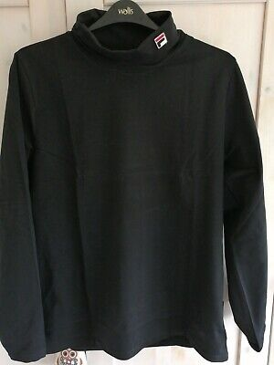 £37 • Buy Fila 19th Roll Neck Long Sleeves T-Shirt Black. New With Tags Borg XXL