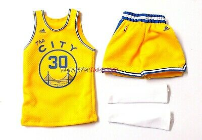 $21.99 • Buy New 1/6 NBA #30 Stephen Curry Away Jersey Yellow The City For Enterbay Figures
