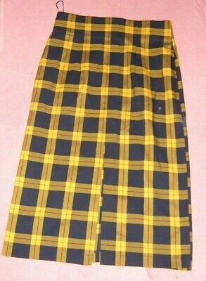 £8.50 • Buy Ladies Size 14 Navy And Mustard Checked Skirt Topshop