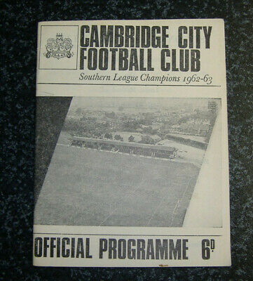 £1.75 • Buy Cambridge City V Chelmsford City Eastern Cup 1965/66