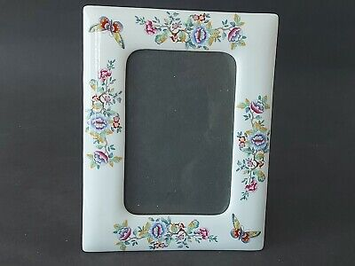 £12.99 • Buy Aynsley Rectangular Porcelain Frame Floral And Butterfly Pattern