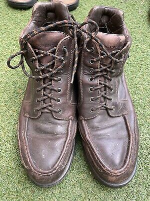 £15 • Buy Rockport Leather Upper Waterproof Brown Boots Size 10