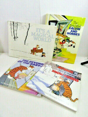 £18.10 • Buy Calvin And Hobbes Comic Book Lot 4 Paperback And Hardcover Bill Watterson