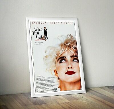 £6.29 • Buy Madonna Who's That Girl Reproduction Movie Poster Print Wall Art 1980s