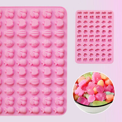 £3.19 • Buy Silicone 66 Mini Fruits Chocolate Candy Mould Cookies Ice Cube Tray Jelly Mold