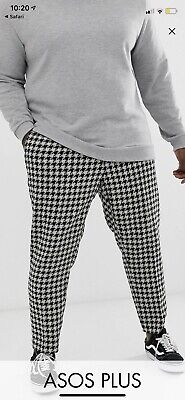 £4.99 • Buy Ladies DogTooth Print Jeans Size 20