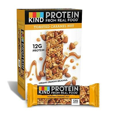 £7 • Buy KIND Protein Bars- Toasted Caramel Nut Cereal, 12 Pack, Best Before- 17/04/20,