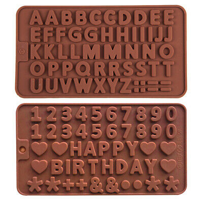 £2.89 • Buy Silicone Alphabet Letter Number Chocolate Mould Candy Cookie Ice Cube Jelly Mold