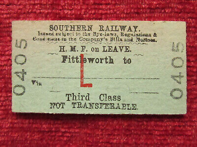 £2.95 • Buy Southern Railway Ticket Fittleworth 0405 HMF On Leave Ref:21b