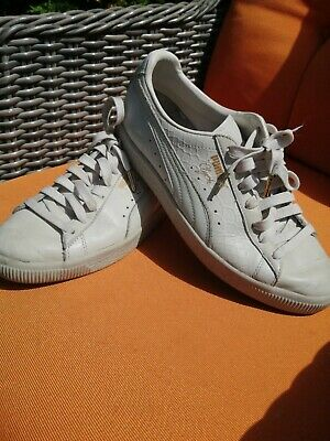 £5 • Buy Puma Mens Clyde Leather Trainers Size 7, Pale Grey Colour