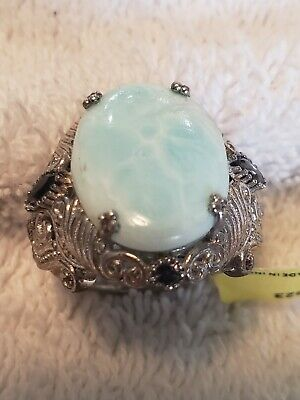 £46.62 • Buy Larimar Spinel Sterling Silver Ring - Size 7