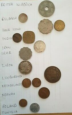 £10.50 • Buy Job Lot Of 15 Assorted Foreign Coins