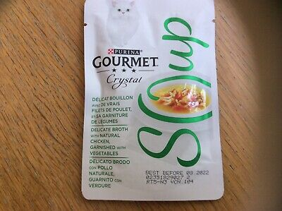 £22 • Buy Purina Gourmet Crystal Soup Chicken And Vegetables Cat Food
