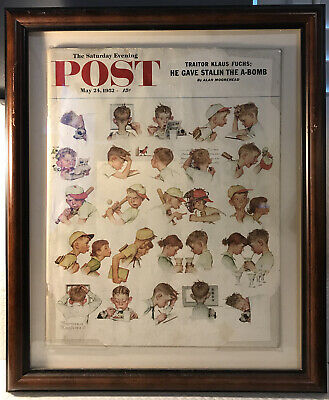 $ CDN107 • Buy The Saturday Evening Post-May 24, 1952-Cover Art By Norman Rockwell-Framed