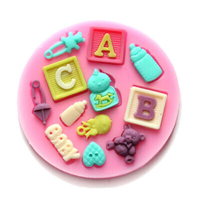 £2.99 • Buy Baby Shower Silicone Fondant Mould Baking Cake Candy Sugar Craft Chocolate Mold