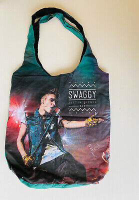 AU20 • Buy Justin Bieber Merchandise Swaggy Bag Believe Tour VIP Gift Reversible