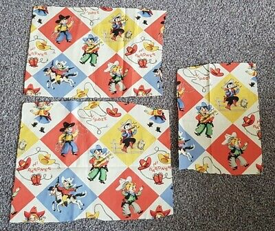 £0.99 • Buy MICHAEL MILLER  Yippee  Cowboy Fabric Remnants CRAFT/PATCHWORK/QUILTING