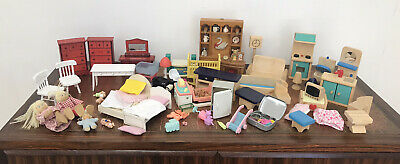 £9.99 • Buy Bundle Job Lot Of Wood And Plastic Dolls House Furniture And Accessories
