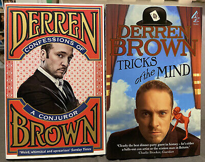 £5 • Buy Derren Brown Confessions Of A Conjuror & Tricks Of The Mind 2 Brand New Books