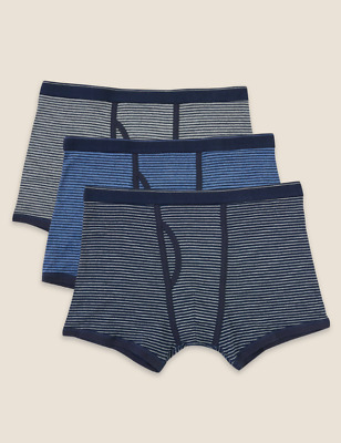 £12.99 • Buy M&S COLLECTION 3pk Pure Cotton Cool & Fresh™ Mens Trunks RRP £18 Sizes - S - XXL