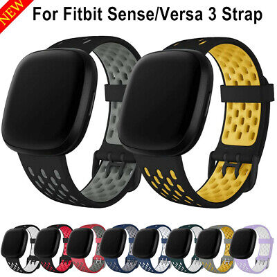 $ CDN6.91 • Buy For Fitbit Sense/ Versa 3 Replacement Silicone Sports Band Strap Watch Wristband
