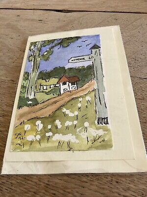 £2.09 • Buy Greetings Card Hand Painted Watercolour Painting (original) The Kent Countryside