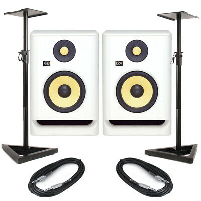 £470.50 • Buy KRK Rokit RP8 G4 White Noise (Pair) With Stands & Cables