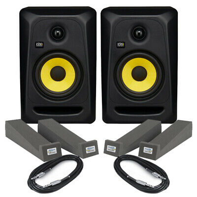 £240 • Buy KRK Rokit Classic 5 (Pair) With Isolation Pads & Cables