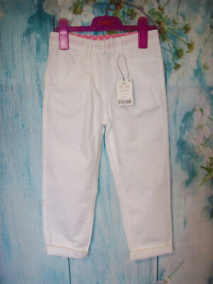 £7.99 • Buy NEW GIRLS NEXT TROUSERS CHINOS AGE 6, White Cotton Crop Summer Casual 3/4 Pants