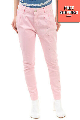 £1.04 • Buy MIVITE Trousers Size IT 44 / M Paint Splatter Drop Crotch Pleated Made In Italy