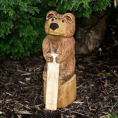 £90 • Buy Chainsaw Carved Bear With Sign (your Name) Rustic Outdoors Garden Sculpture
