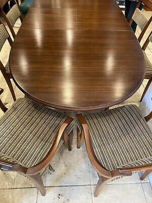 AU550 • Buy Mid Century Vintage Chiswell Extendable Dining Table With Chairs, Dark Timber