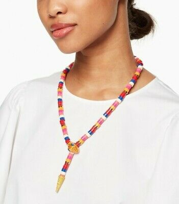 $ CDN120 • Buy Kate Spade Spice Things Up Snake Necklace Pave Statement Necklace
