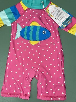 £19.99 • Buy Frugi Sun Suit Pino Fish All In One 0-3 BNWT