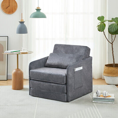 £95.99 • Buy Single Sofa Bed Armchair Soft Floor Sleeper Lounger Futon Couch Chair W/ Pillow
