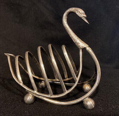 £10 • Buy Antique Silver Plate Toast Rack In Shape Of A Swan C1900