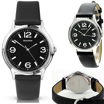 £21.95 • Buy Sekonda Mens Gents Classic Watch With Black Dial & Leather Strap