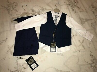 £35 • Buy Navy Blue Noys Next Suit With Shirt & Tie 18-24 Months BNWT